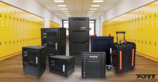 port designs Szafy ładujące z wbudowaną lampą UV