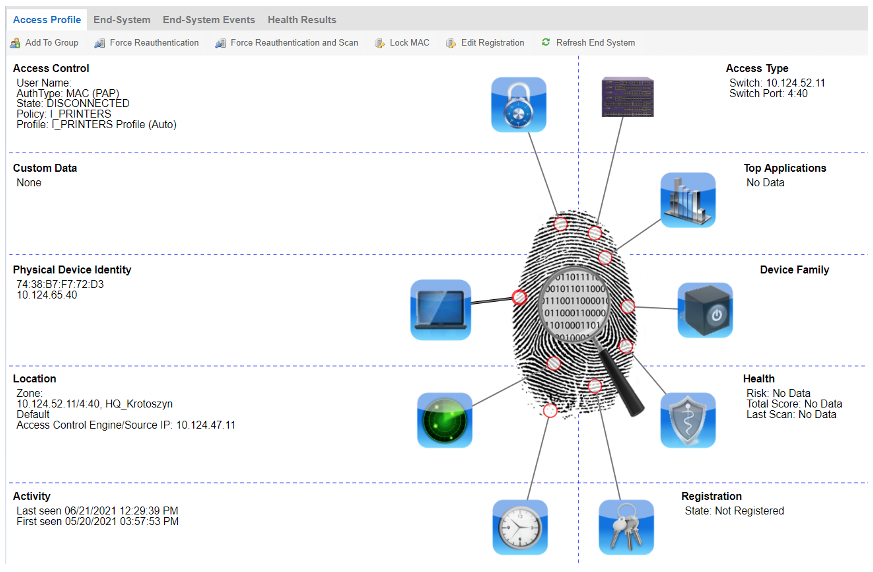 NAC Extreme Networks